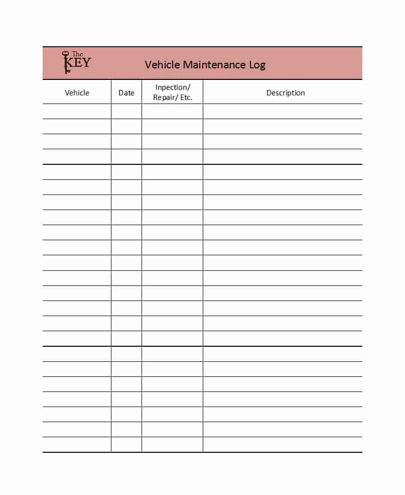 Truck Maintenance Log Template Lovely 40 Printable Vehicle Maintenance Log Templates Template Lab