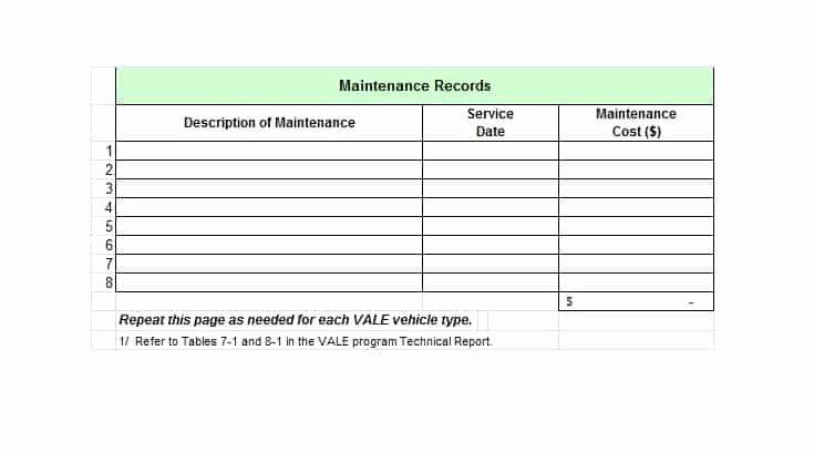 Truck Maintenance Log Template Unique 40 Printable Vehicle Maintenance Log Templates Template Lab