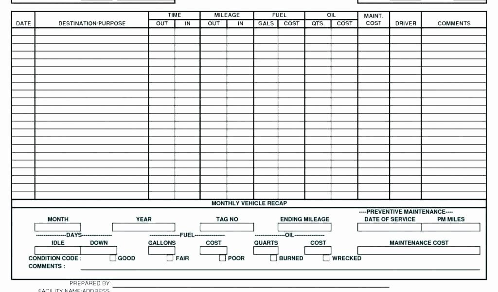 Truck Maintenance Schedule Template Luxury Truck Maintenance Schedule Template Vehicle Maintenance