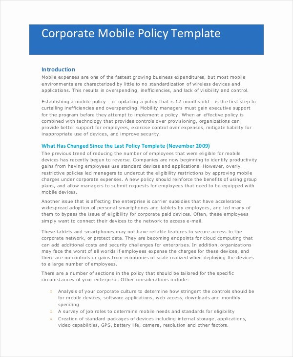 Trucking Company Safety Policy Template Lovely Pany Policy Template 14 Free Pdf Documents Download
