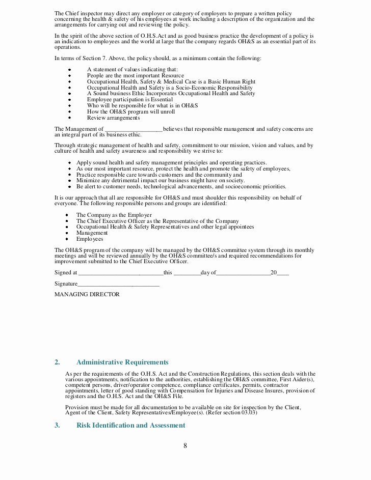 Trucking Company Safety Policy Template New S Sample Trucking Pany Safety Policy Coloring