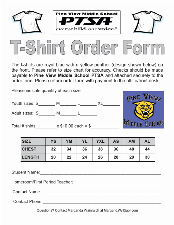 Tshirt order form Template Awesome Tshirt order forms Find Word Templates