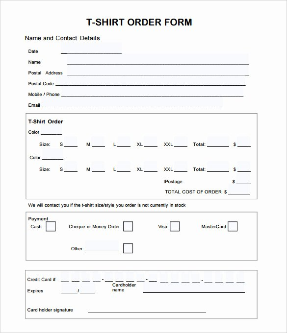 Tshirt order form Template Best Of 26 T Shirt order form Templates Pdf Doc