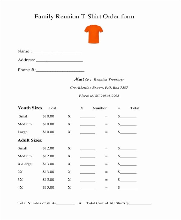 Tshirt order form Template Best Of Sample T Shirt order form 10 Free Documents In Doc Pdf
