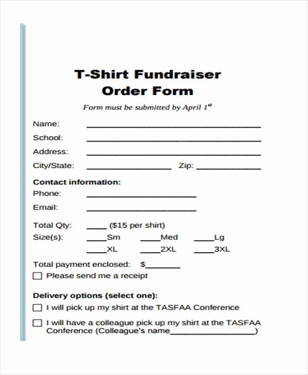 Tshirt order form Template Elegant Simple order forms