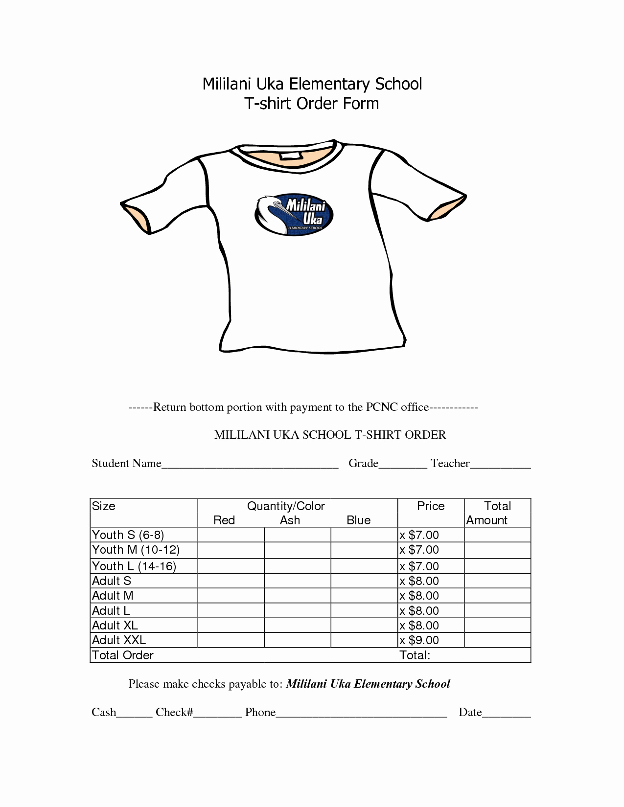 Tshirt order form Template Inspirational School T Shirt order form Template Clothes
