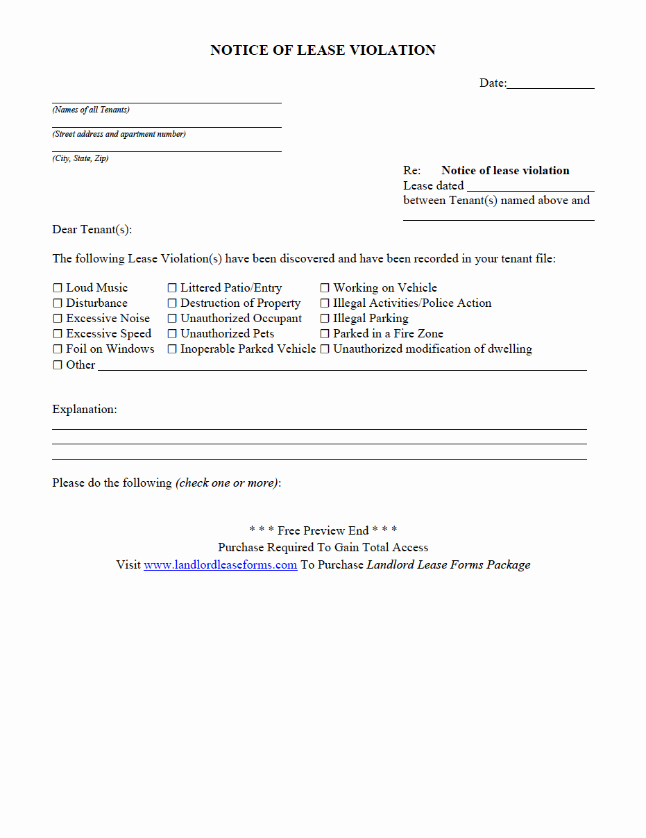 Unauthorized Tenant Letter Template Awesome Unauthorized Tenant Letter