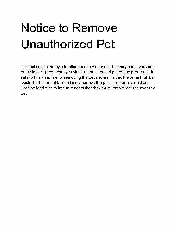 Unauthorized Tenant Letter Template Awesome Wel E to Docs 4 Sale