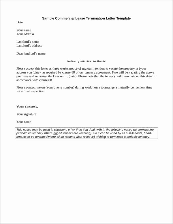 Unauthorized Tenant Letter Template Awesome What to Include In A Mercial Lease Termination Letter