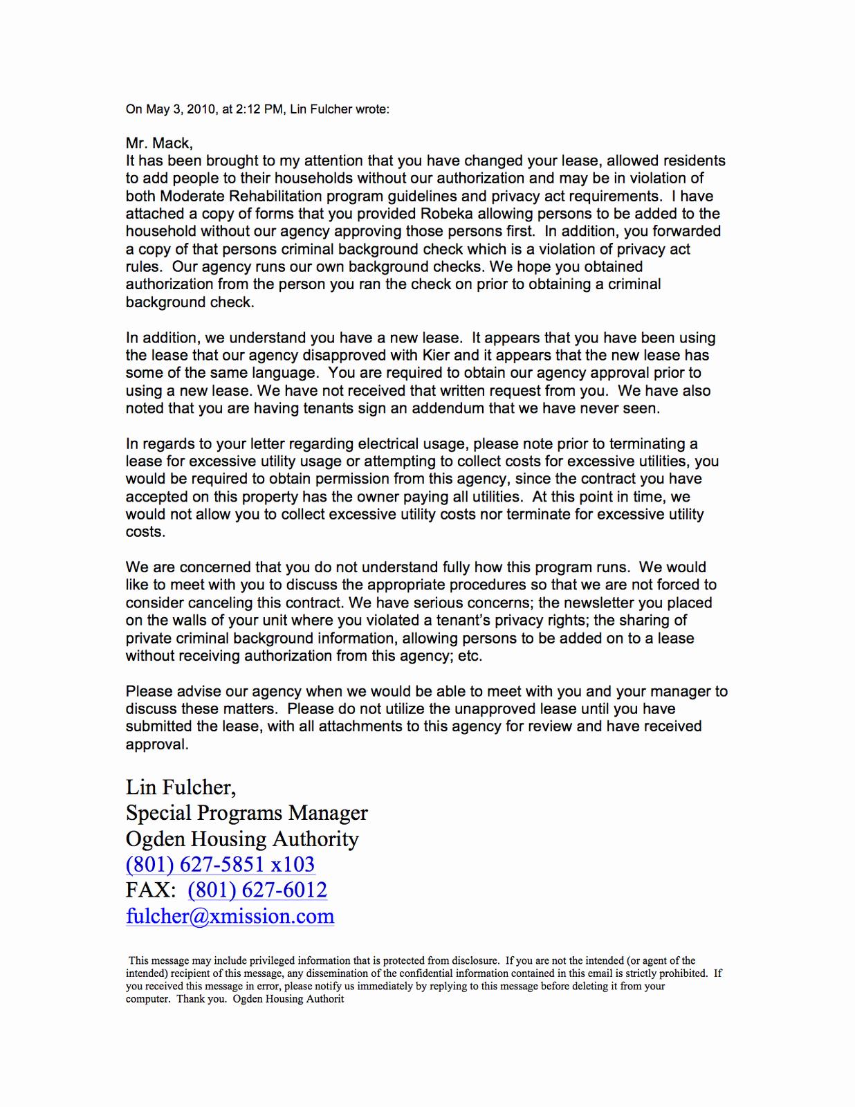 Unauthorized Tenant Letter Template Beautiful Kier Corp's Crap the Destruction Of A Landmark Oha Hud