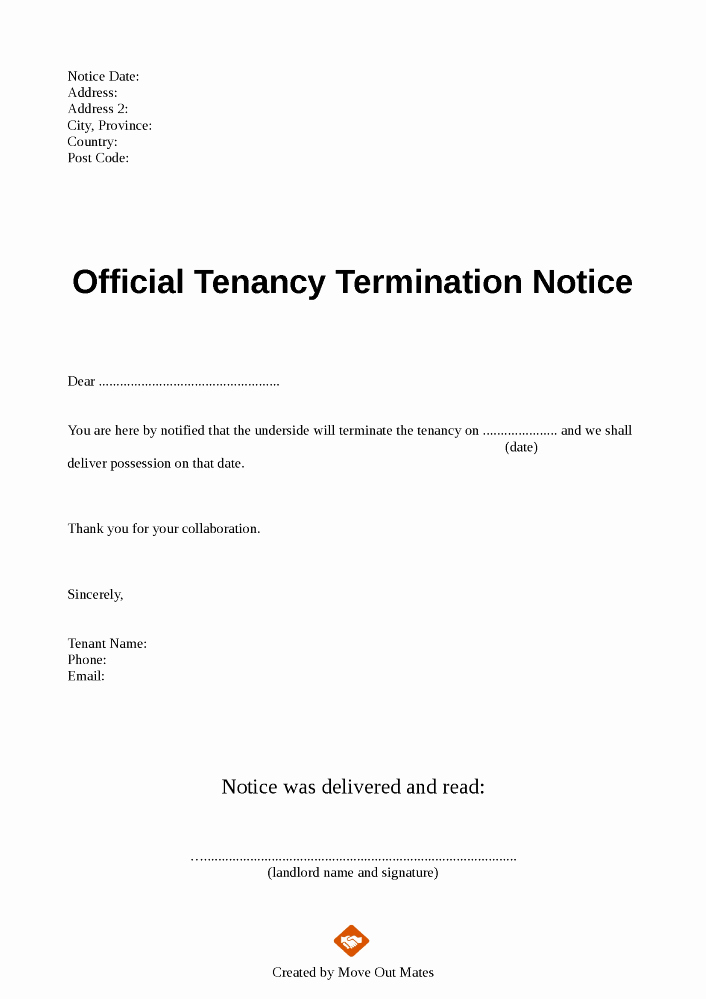 Unauthorized Tenant Letter Template Beautiful Unauthorized Tenant Letter Template