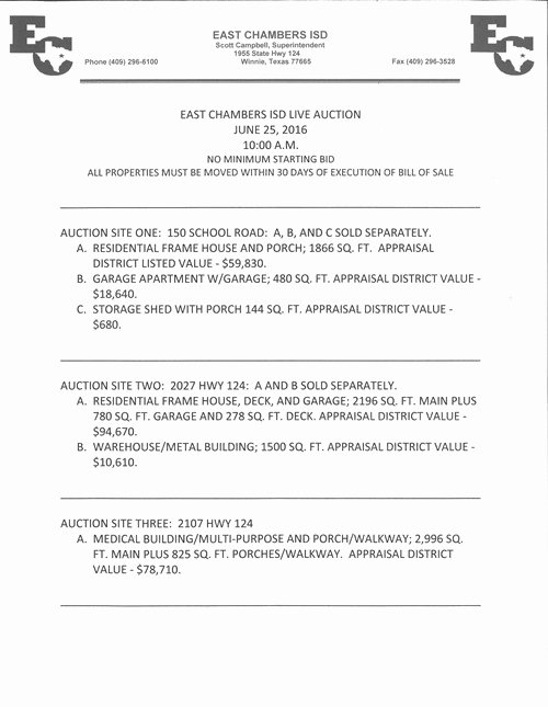 Unauthorized Tenant Letter Template Inspirational Notice Of Live Auction Of Surplus Personal Property East