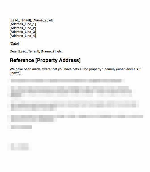 Unauthorized Tenant Letter Template Inspirational Unauthorized Tenant Letter
