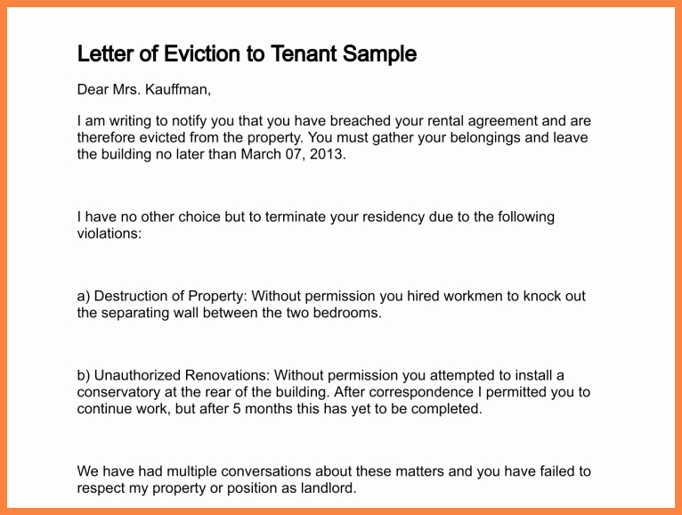 Unauthorized Tenant Letter Template New 11 Tenant Warning Notice