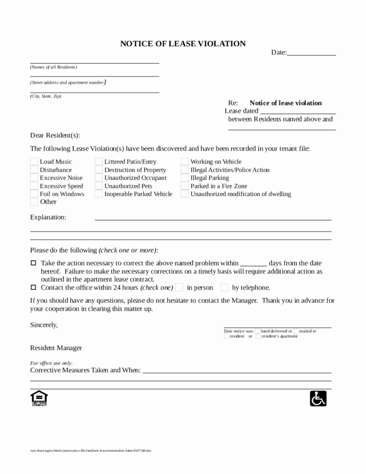 Unauthorized Tenant Letter Template New Unauthorized Tenant Sample Letter