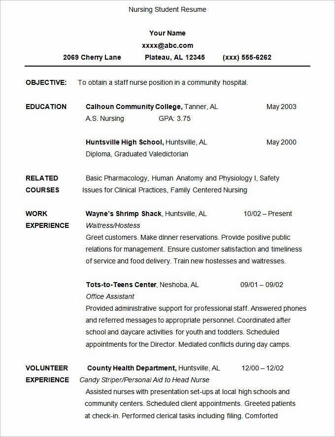 Undergraduate Resume Template Word Beautiful 36 Student Resume Templates Pdf Doc