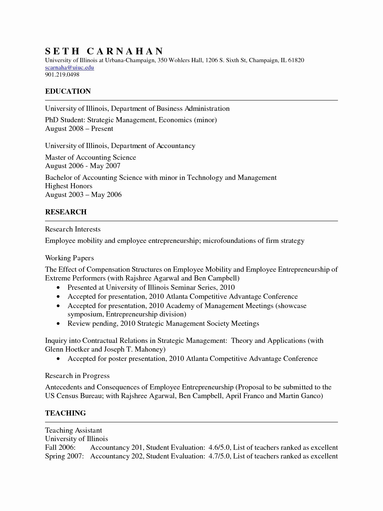 Undergraduate Resume Template Word Best Of Cv format for Australian Universities All Resume