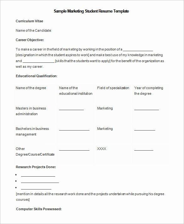 Undergraduate Resume Template Word Elegant 34 Microsoft Resume Templates Doc Pdf