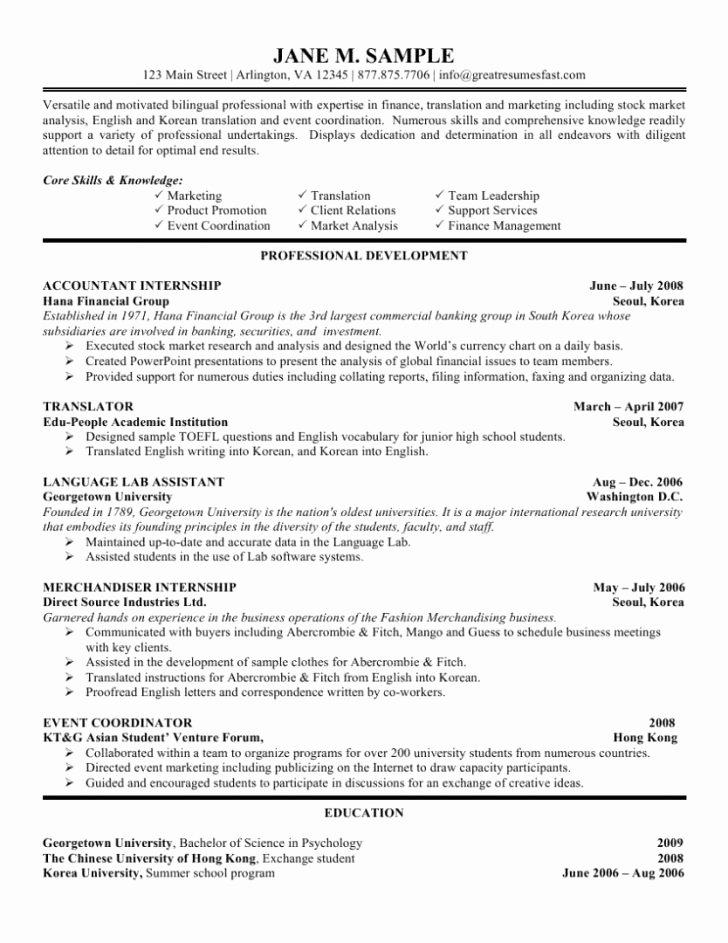 Undergraduate Resume Template Word Lovely Resume Template Undergraduate Resume Template Word
