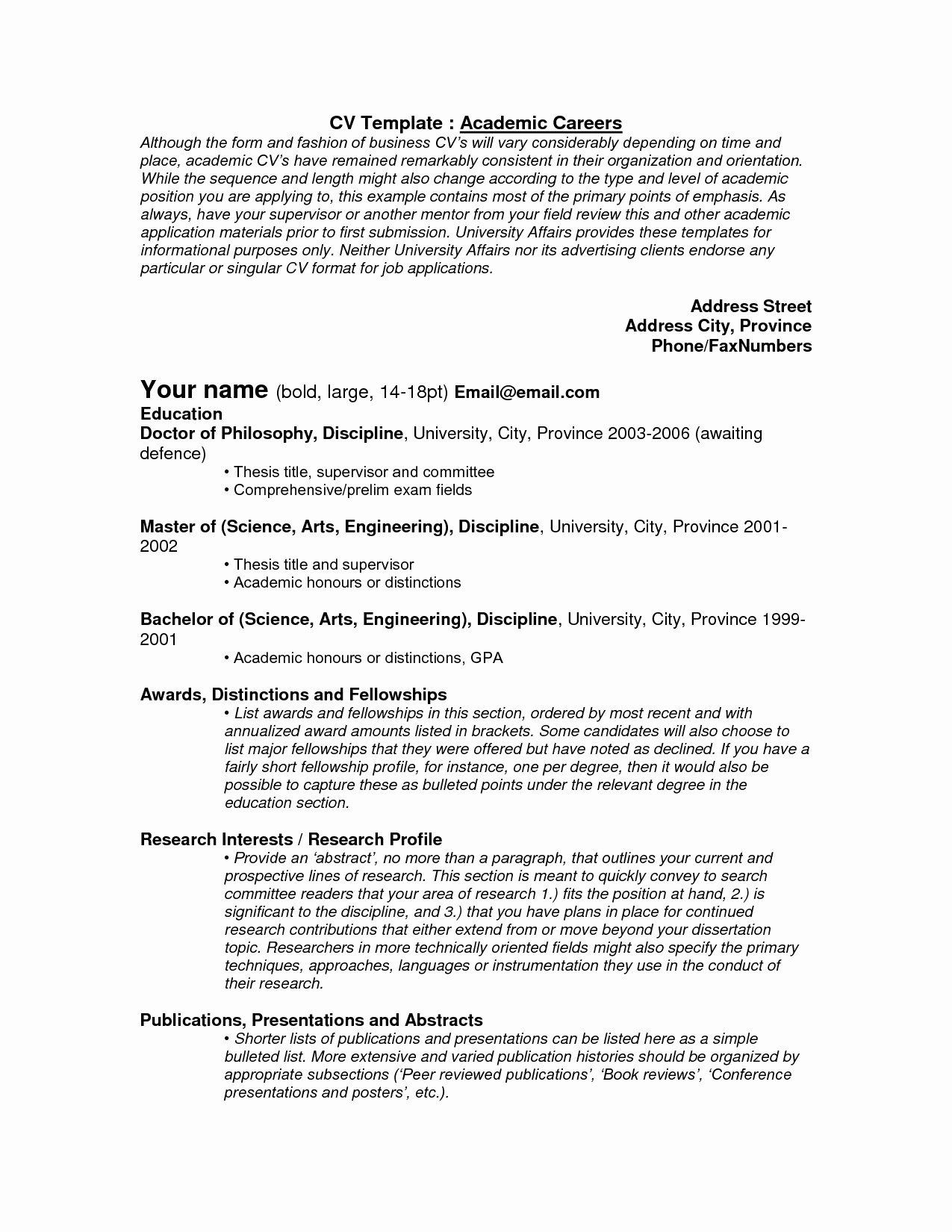 Undergraduate Resume Template Word New Academic Resume Template Word Portablegasgrillweber