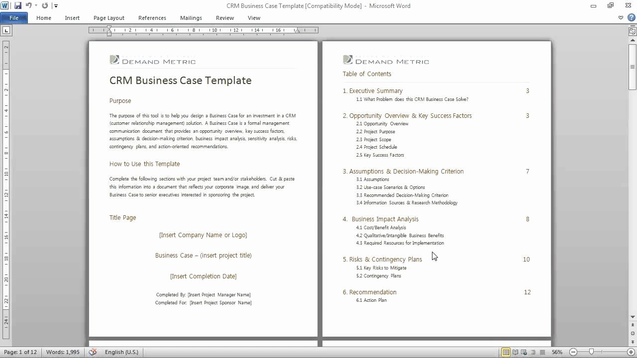 Use Case Documentation Template Beautiful Crm Business Case Template A formal Munications