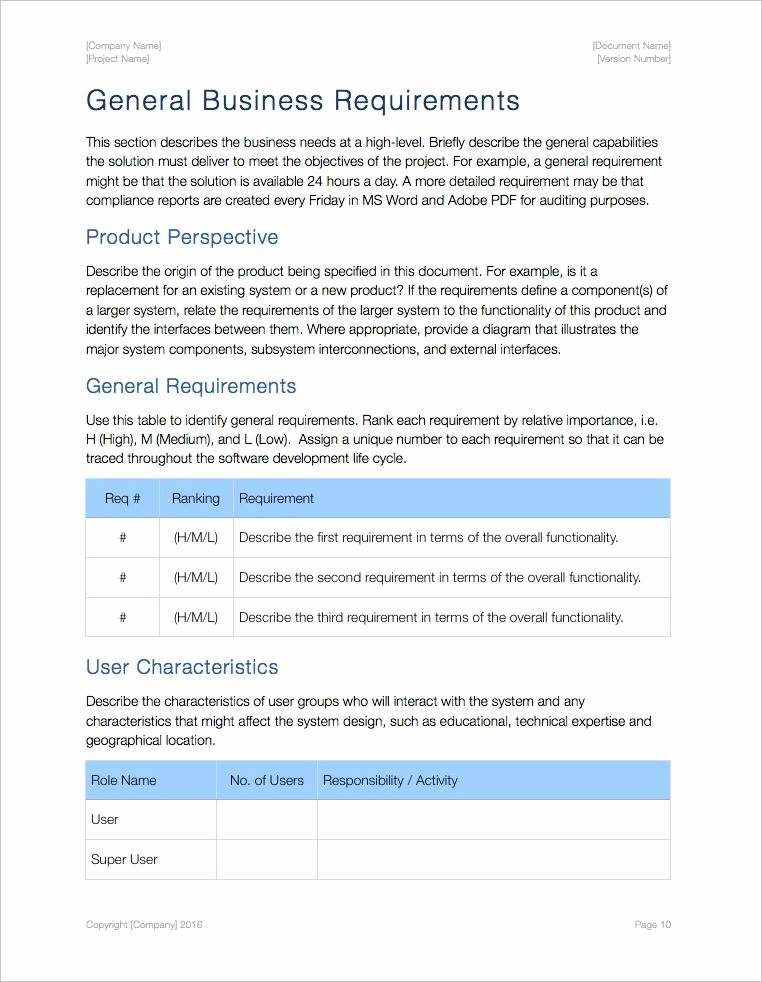 Use Case Documentation Template Fresh Business Requirements Template Apple Iwork Pages Numbers