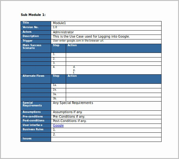 Use Case Documentation Template Lovely Test Case Template 22 Free Word Excel Pdf Documents