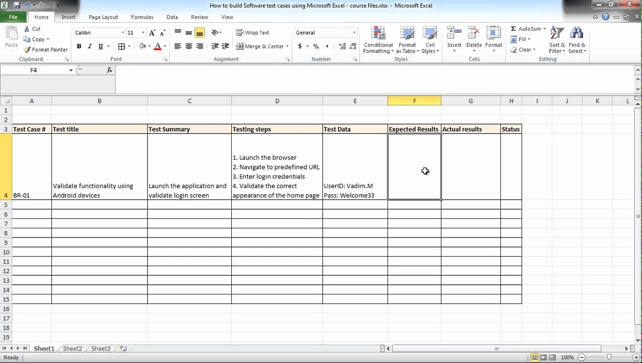 Use Case Testing Template Best Of software Testing Using Excel How to Build Test Cases