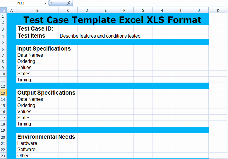 Use Case Testing Template Elegant Project Management Test Case Template Excel Xls
