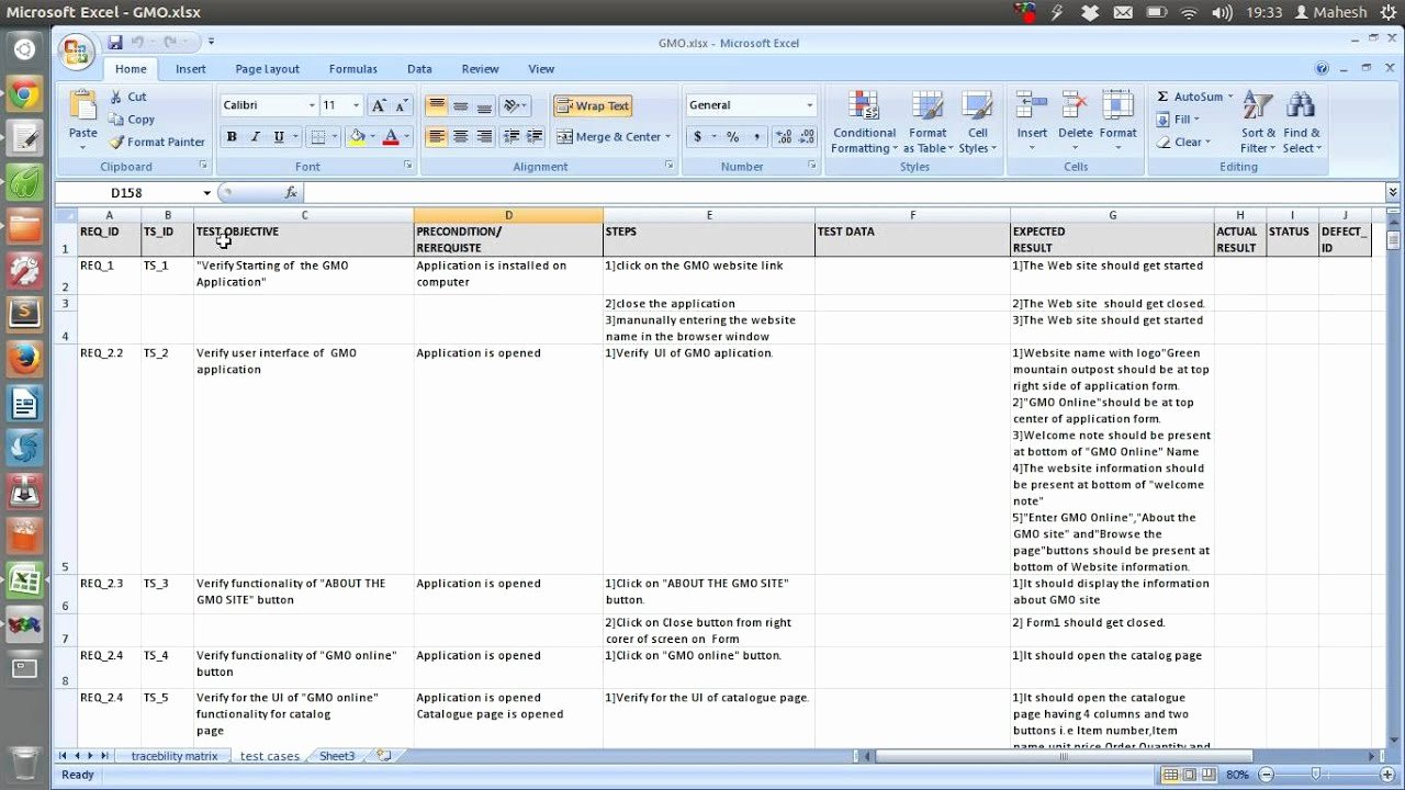 Use Case Testing Template Fresh Sample Test Case Template Document Excel