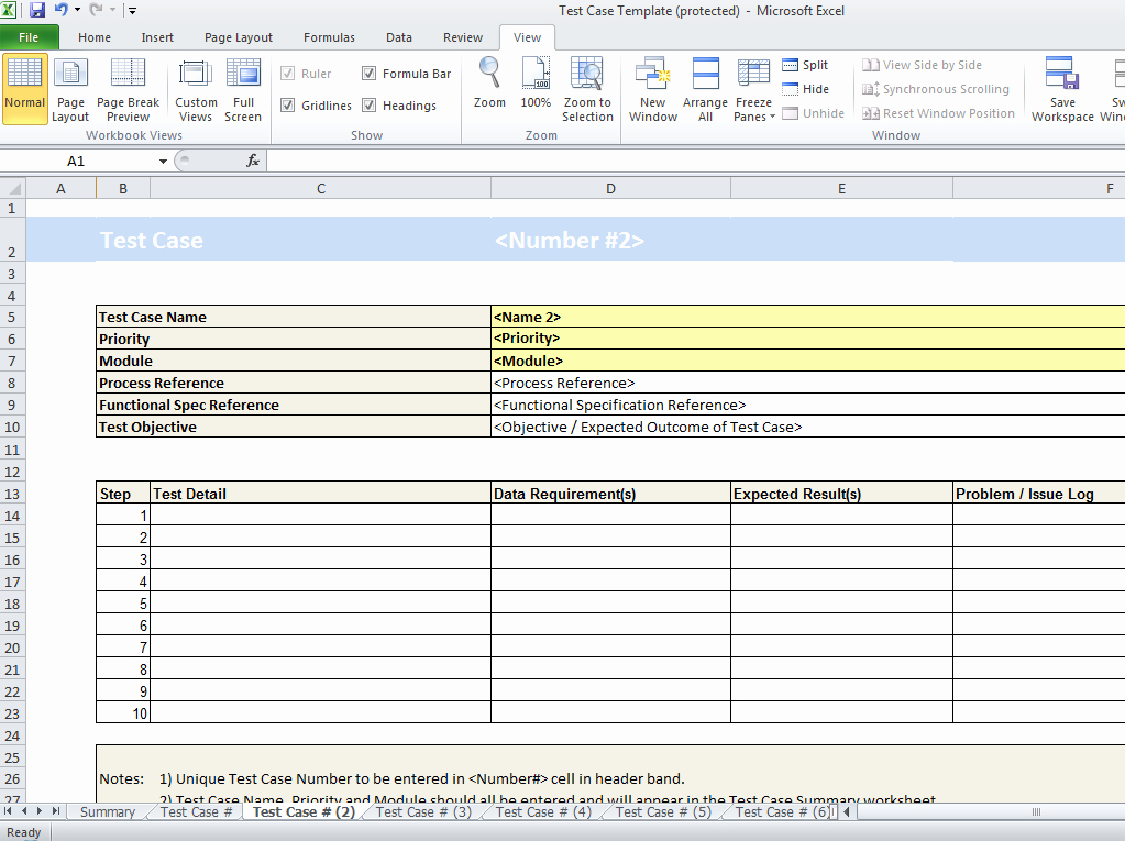 Use Case Testing Template Fresh Test Case Spreadsheet