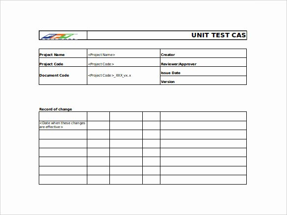 Use Case Testing Template Inspirational 10 Test Case Templates – Free Sample Example format