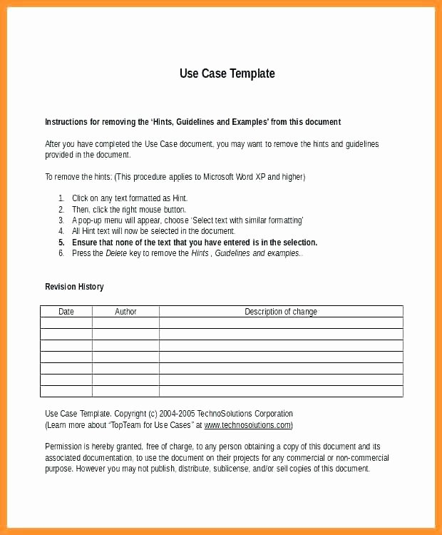 Use Cases Document Template Awesome Printable Use Case Template What is A Document 962d Pdf
