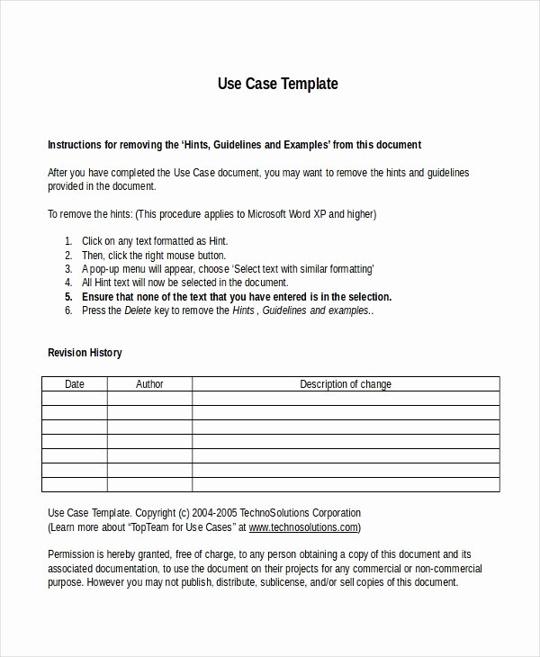 Use Cases Document Template Fresh 10 Business Case Templates Free Sample Example format