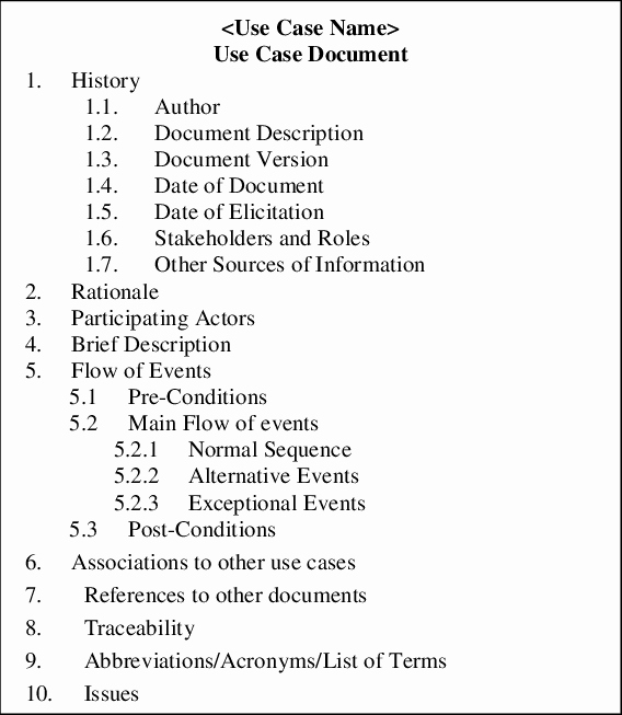 Use Cases Document Template Fresh Global Use Case Document Template