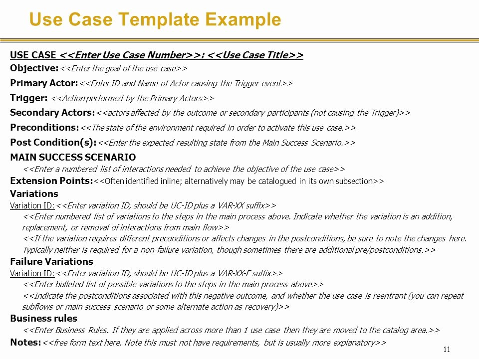 Use Cases Document Template Fresh Requirements Specification with Use Cases Ppt