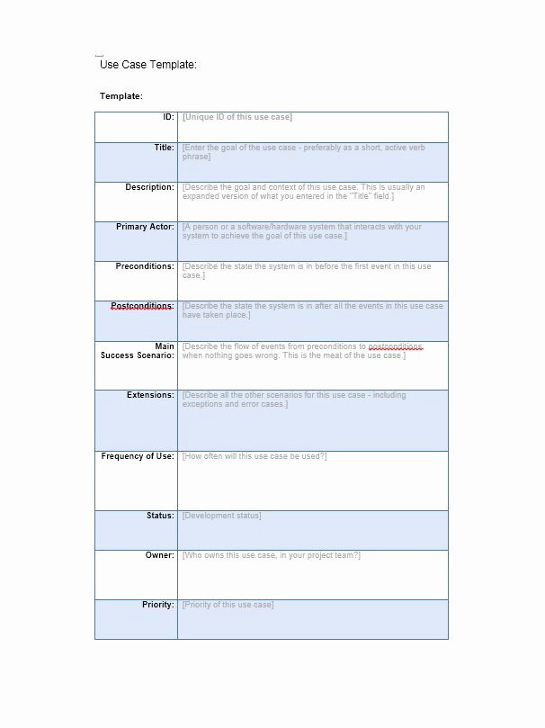 Use Cases Document Template Lovely 40 Use Case Templates & Examples Word Pdf Template Lab