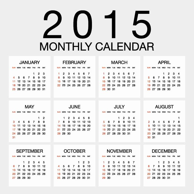 Vacation Calendar Template 2015 Awesome Printable Canadian Employee Vacation Planner Calendar 2016