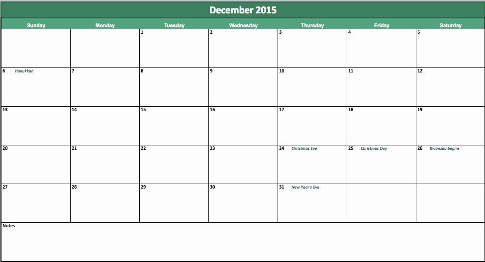 Vacation Calendar Template 2015 Fresh 10 Best Of 2015 Vacation Calendar Template 2015