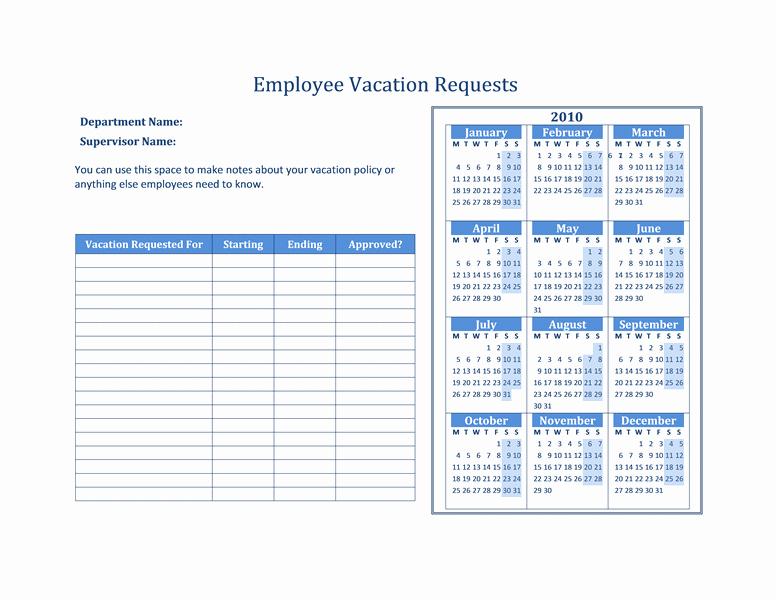 Vacation Calendar Template 2015 Lovely 2015 Calendar Excel Template Vacation