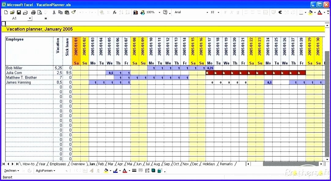 Vacation Calendar Template 2015 Lovely Employee Vacation Tracking Calendar Excel Template 2015
