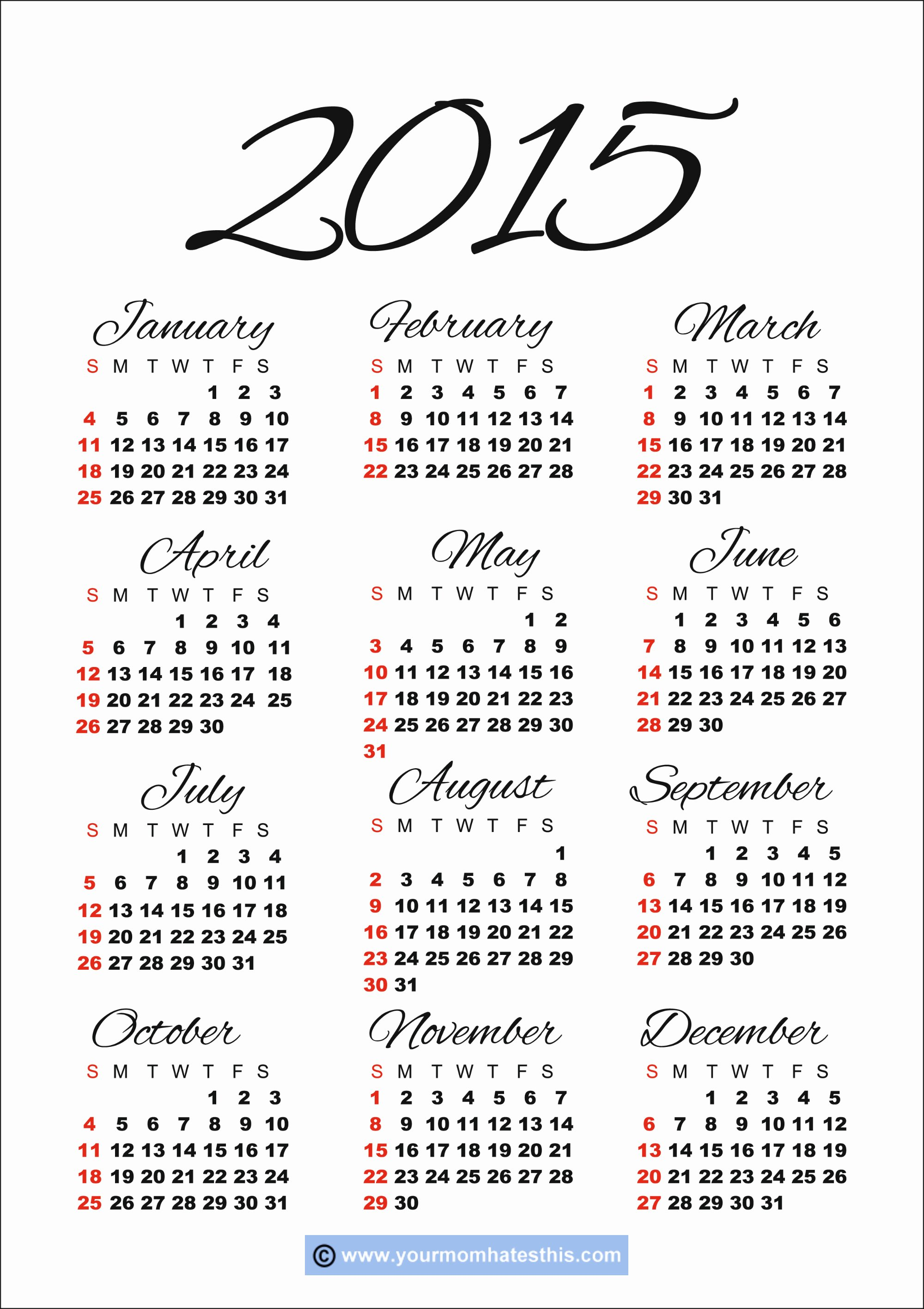 Vacation Calendar Template 2015 Lovely Get Your 2014 Us Calendar Printed today with Holidays