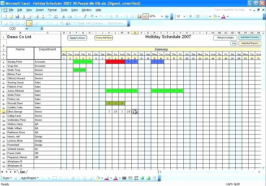 Vacation Calendar Template 2015 Unique Employee Vacation Template Employee Tracking Spreadsheet