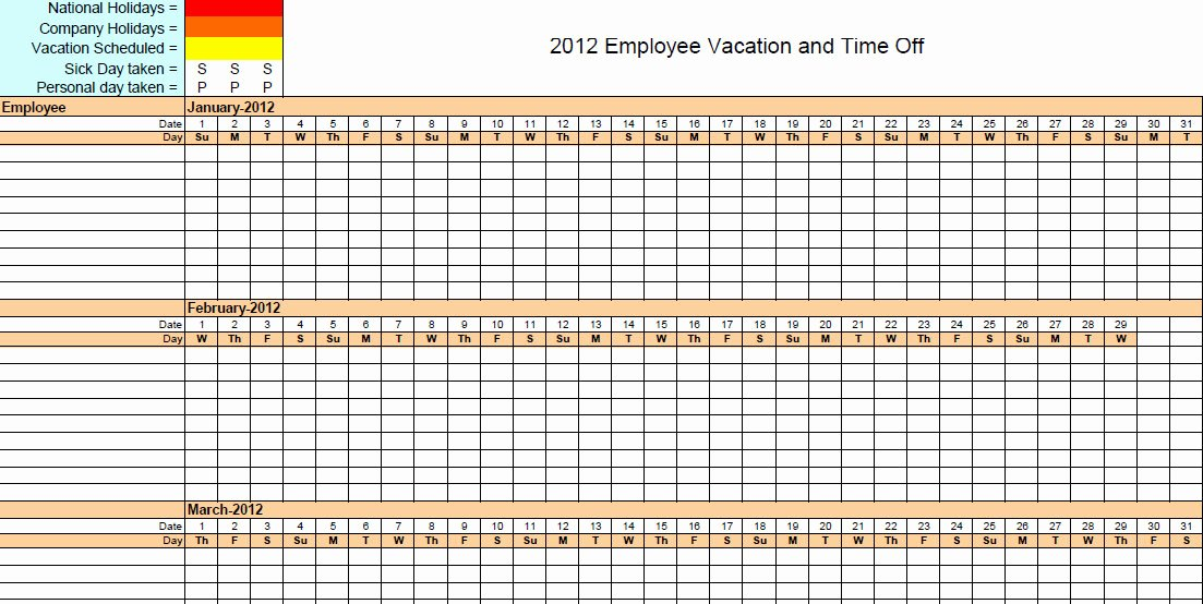 Vacation Calendar Template 2017 Beautiful Vacation Accrual Spreadsheet Template