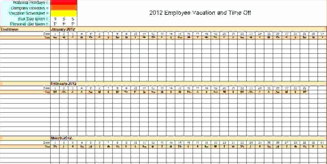 Vacation Calendar Template 2017 Best Of Free Employee Vacation Planner Template 2017