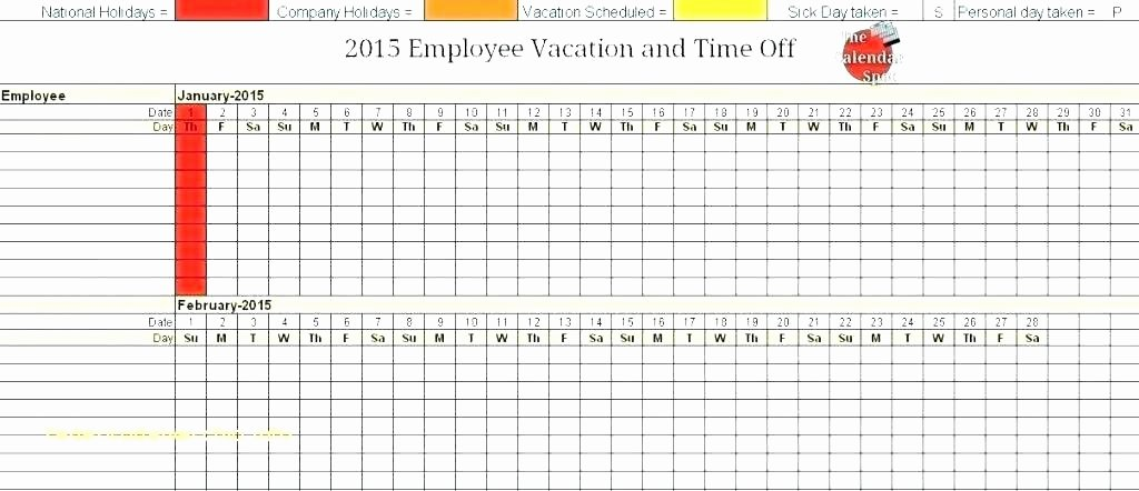 Vacation Calendar Template 2017 Luxury Vacation Calendar Template 2017 Employee Vacation Tracker