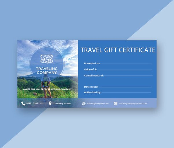 Vacation Gift Certificate Template Beautiful 14 Gift Certificate Examples & Samples
