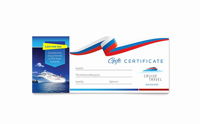 Vacation Gift Certificate Template Best Of Cruise Travel Gift Certificate Template Word & Publisher
