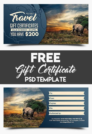 Vacation Gift Certificate Template Best Of Holiday Travel – Business Flyer Psd Template