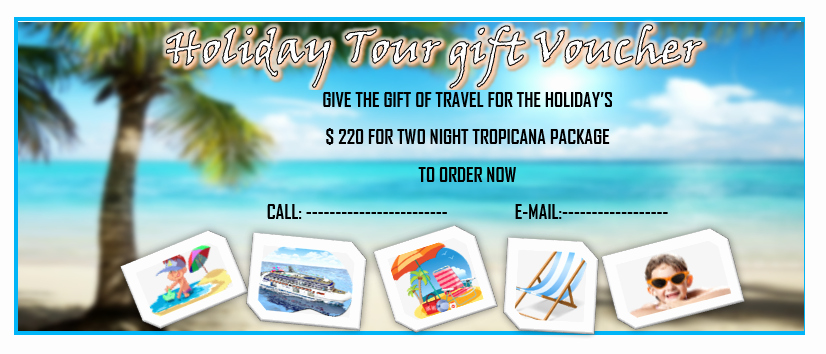 Vacation Gift Certificate Template Inspirational 11 Free Gift Voucher Templates – Microsoft Word Templates